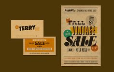 Identity: Business Card and Poster for traveling vintage shop. by Ed Nacional