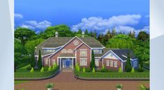 Взгляните на этот участок в Галерее The Sims 4! - A stately home with plenty of room for a large family. The lot also includes a #nursery #gym and #study. Created by #Fischio