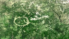 The Proba-V 333m image of 03 March 2015 shows the Manicouagan crater, located in Manicouagan Region of Quebec, Canada. This lake represents one of the largest craters, roughly 100km, originating by…
