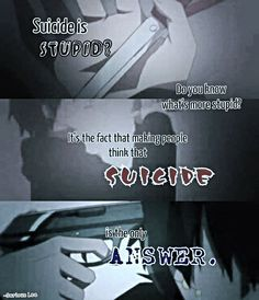 """Hatsune Miku   I still thiking that suicide is the most stupid """"way out"""""""