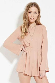Tie-Back Pleated Romper | Forever 21 #thelatest