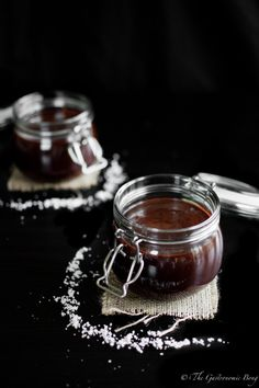 Dark Chocolate Salted Caramel Sauce   The Gastronomic BONG