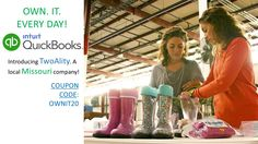 We are so honored to be a part of Intuit QuickBooks #OWNIT every day campaign. #TwoAlity's video series starts tomorrow!  Because we are big fans of Intuit QuickBooks' commitment to helping small business, we are offering a special promotion! Coupon code: OWNIT20 ------ www.thetwoalitystore.com ------ #SmallBusiness #QuickBooks #TwoAlity #MadeintheUSA #Coupon #ClearBoots #InterchangeableLiners #RainBoots #SnowBoots #Style #Trend #Fashion 