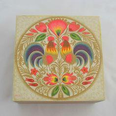 Wooden box 'Polish Folk', $14