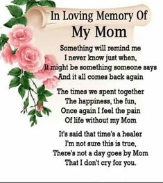 missing mom I will love you all my life Mom.Soon w - mom Mothers In Heaven Quotes, Miss You Mom Quotes, Missing Mom Quotes, Mom I Miss You, Mother Quotes, Sad Quotes, Qoutes, Quotes Images, Bible Quotes