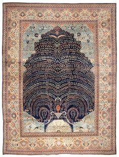 Tabriz Rug | Antique Tabriz Carpet | Persian Rugs | 44869 by Nazmiyal