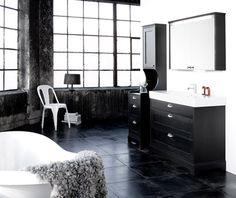 Black bathroom furniture...awesome!!