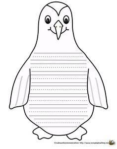 penguin writing paper - great for a penguin unit.