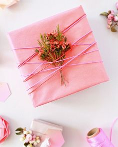 DIY Spray Painted Gift Wrap