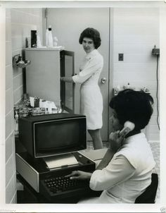 Teletype 40 Terminal at Nurses Station (~1970).