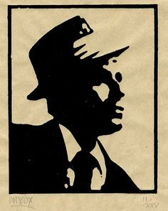 Linocut by Phillip Cox of Frank Sinatra 2007, via Flickr.
