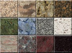 The gallery on this site contains nearly 2000 granite countertop colors!  (Kitchen-Design-Ideas.org)