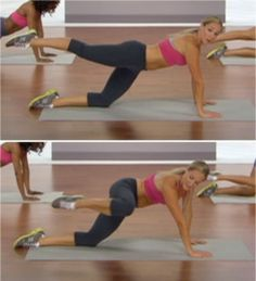 a kneeling crunch move.