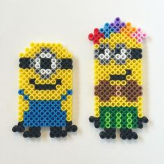 Minions perler beads by cheekyb