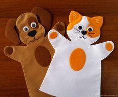 Felt Puppets, Felt Finger Puppets, Hand Puppets, Puppet Crafts, Felt Crafts, Finger Puppet Patterns, Puppet Making, Animal Crafts For Kids, Operation Christmas Child