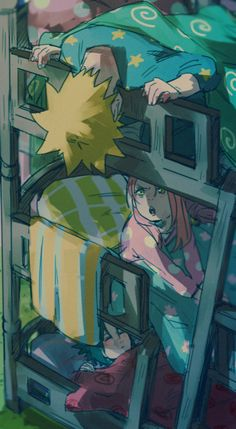 I love how Sasuke is able to sleep in the same room with those two! I wouldn't be able to!
