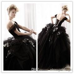 Let charming ball gown wedding gown on DHgate.com get your heart. Besides, gown dress for wedding and one shoulder ball gown wedding dress are also winners.  2015 special ball gown black off shoulder lace up capped tulle court train wedding celebrity dress belong to you and shangshangxi can cheer you up.