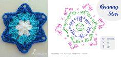 Lanas de Ana: Granny Star (Graphic Pattern). ☀CQ #crochet #christmas