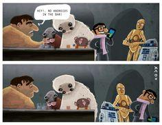 Android joke, star wars, by Christian Ayuni