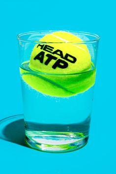 테니스공 & 유리컵(투명체)