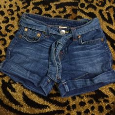 Heidi short shorts True religion style Heidi short. Denim shorts. Snap adjustable waist tie. Kids 14 fit like a woman's 0. Good condition! True Religion Shorts Jean Shorts
