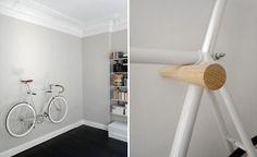 ideas for fixie bike ideas apartments Bike Hanger, Bike Rack, Bike Storage Wood, Bike Storage Apartment, Bike Wall Mount, Vertical Bike, Wood Rack, Rack Shelf, Bike Design