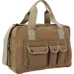fa2d00a790 Mocha   Khaki - Vintage Two Tone Canvas Shoulder Tool Bag - Army Navy Store  Country