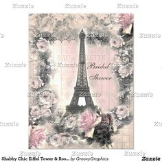 Shabby Chic Eiffel Tower & Roses Bridal Shower