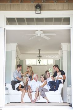 Take a family portrait not with everyone looking at the camera but better with everyone with an emotion that expresses their personalities and relationships with each other