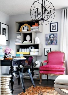 love the pink chair