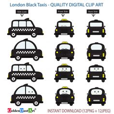 A personal favorite from my Etsy shop https://www.etsy.com/listing/458605434/london-black-taxi-clipart-london-taxi