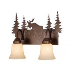 One, Two, Three or Four Light Vanity Burnished Bronze | Rustic Cabin & Lodge Lighting | Antlers Etc - Rustic Cabin, Lodge & Hunting Decor