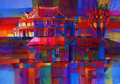 Mississippi colors -watercolor -Gary Walters