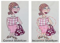 Using Stabilizers for Machine Embroidery - Correct & Incorrect