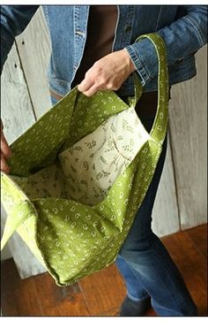 "Size: Closed : 7"" D x15"" W (Bottom edge) 7"" W (top edge) x 17"" H excluding handles. Top gusset width when opened: 19"" Trapezoid Tote sewing pattern from Indygo Junction"