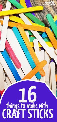 16 fun popsicle stick crafts for kids and grown-ups and everything in between! Whether you're a toddler or teen these craft stick DIY ideas will hit the mark for sure! YOu'll find bookmarks puppets gift ideas frames and more! Popsicle Stick Crafts For Kids, Crafts For Kids To Make, Popsicle Sticks, Craft Stick Crafts, Crafts For Teens, Craft Gifts, Kids Crafts, Wood Crafts, Easy Crafts