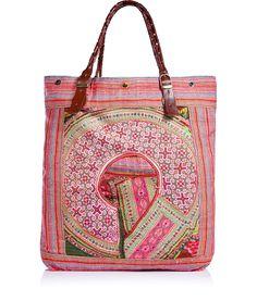 Multicolour patchwork bag by Elliott Mann