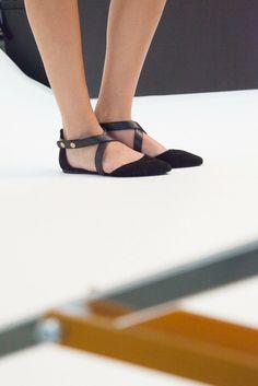 0629577d484801 Black Strap Flats Flat Sandals