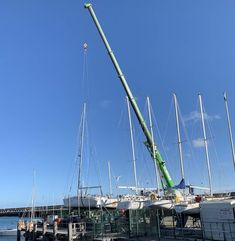National Yacht Club Winter Lift Out of Sailing Cruisers Completed