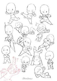 Body Drawing, Drawing Base, Manga Drawing, Chibi Drawing, Art Tutorials, Drawing Tutorials, Figure Drawing Tutorial, Chibi Sketch, Drawing Expressions