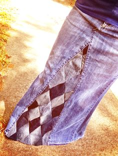 Hand made diamond print denim maxi skirts available in any size!
