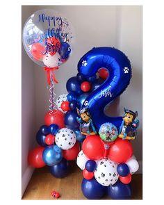 Paw Patrol Party Decorations, Balloon Decorations Party, Birthday Party Decorations, Birthday Garland, Birthday Bouquet, Birthday Balloons, Balloon Tower, Balloon Garland, Bolo Do Paw Patrol
