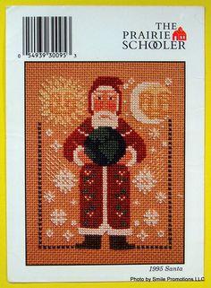 ! 1995 The PRAIRIE SCHOOLER SANTA Counted Cross Stitch Pattern #ThePrairieSchooler