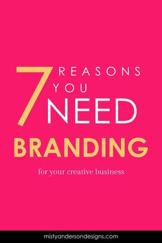 is branding and why is it so important to your small busiess Have you ever wonder why you need to take the time to build your brand instead of letting it slowly grow over time? Well here are the top 7 reasons you need to brand your business. Inbound Marketing, Digital Marketing Strategy, Business Marketing, Content Marketing, Marketing Strategies, Marketing Ideas, Media Marketing, Corporate Design, Brand Identity Design