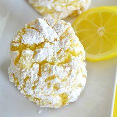 Lemon Crinkle Cookies - only 4 ingredients!!