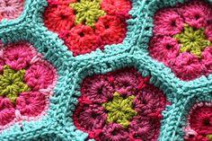 Ravelry: -tangledYARNS-'s African Flower Blanket