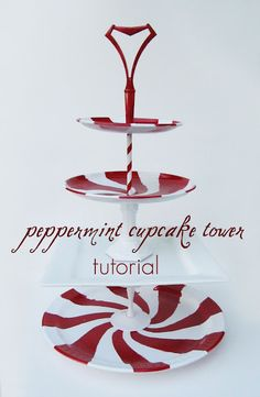 DIY Peppermint Cupcake Tower