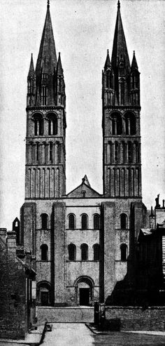 Abbey of Saint-Étienne, Caen, France  #architecture #drawing Pinned by www.modlar.com
