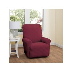 Stretch Sensation Double Diamond Recliner Stretch Slipcover, Red
