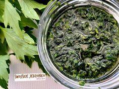 Pesto, Acai Bowl, How To Dry Basil, Pickles, Herbs, Breakfast, Food, Gardening, Essen